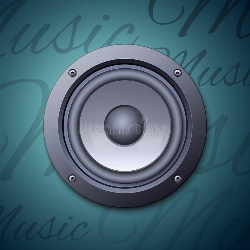 Audiosprekerspictogram royalty-vrije illustratie