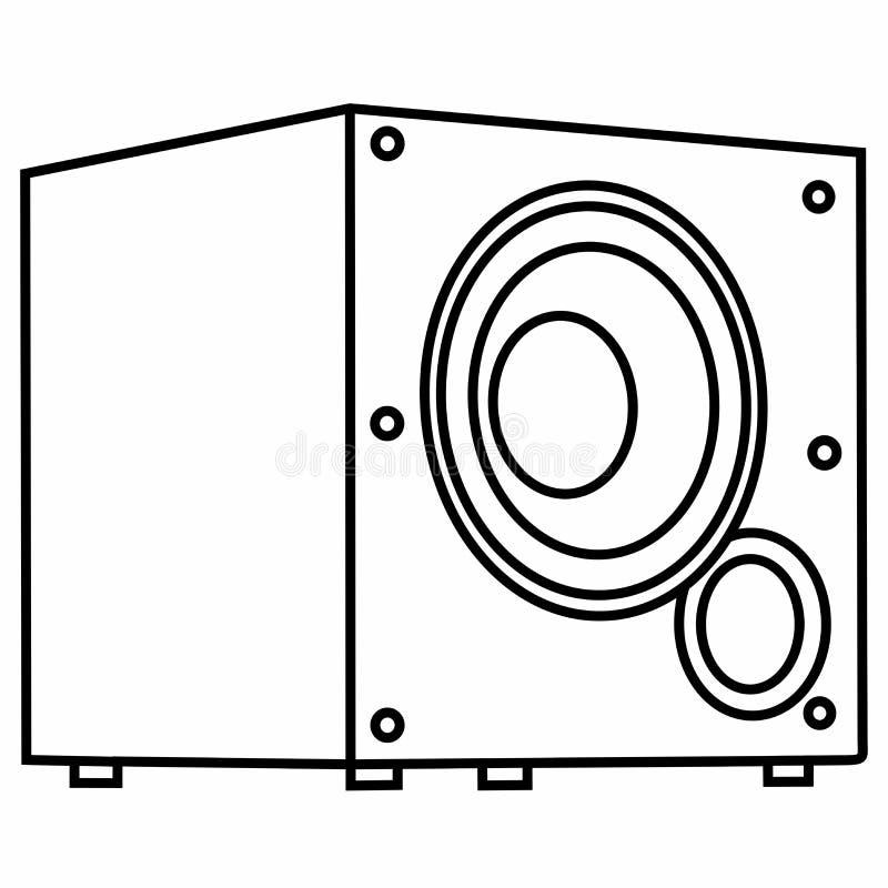 Audiosubwoofer starker Bass Dynamic Sound Volume stockfotografie