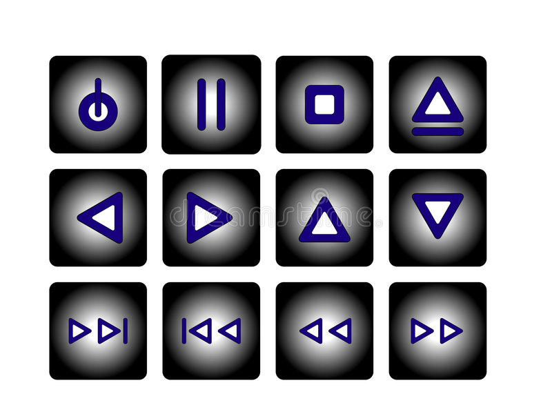 Audiotasten vektor abbildung