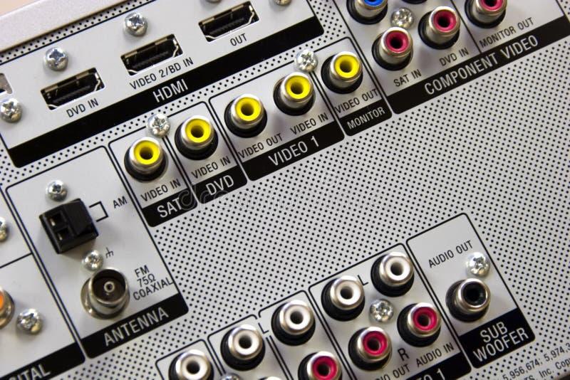 Audiovideoinput stockbild