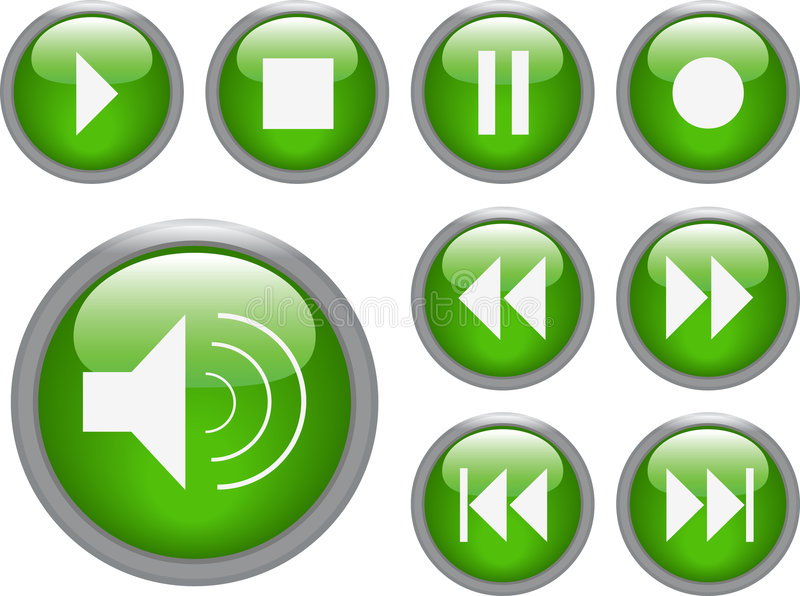 Audiovideotasten lizenzfreie abbildung