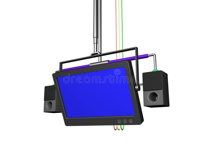 Audiovisuele apparatuur royalty-vrije illustratie