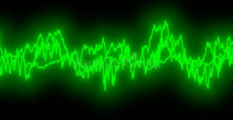 audiowaves royaltyfri illustrationer
