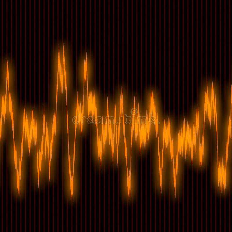 Download Audiowaves stock illustration. Illustration of amplitude - 2541410