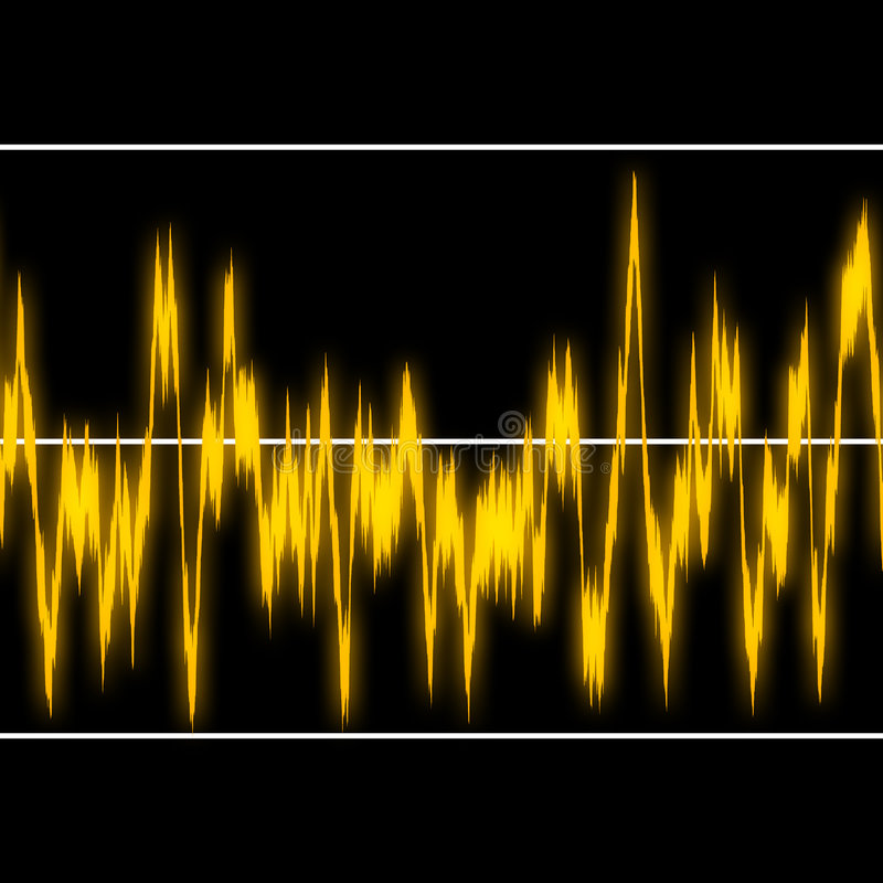 Download Audiowaves stock illustration. Image of sonar, radio, drawing - 3412598