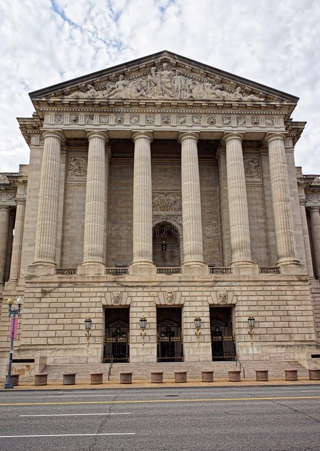 Auditório de Andrew Mellon no Washington DC fotos de stock