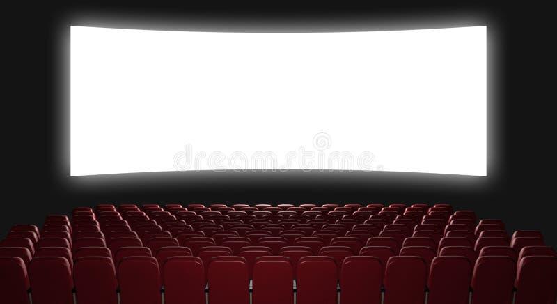 Auditório do cinema ilustração stock