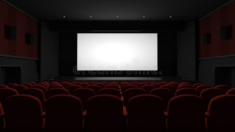 Auditório do cinema ilustração royalty free