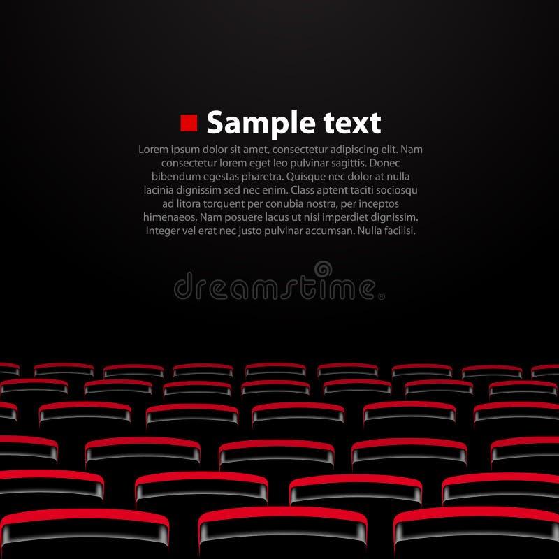 Auditório do cinema do vetor com assentos ilustração do vetor