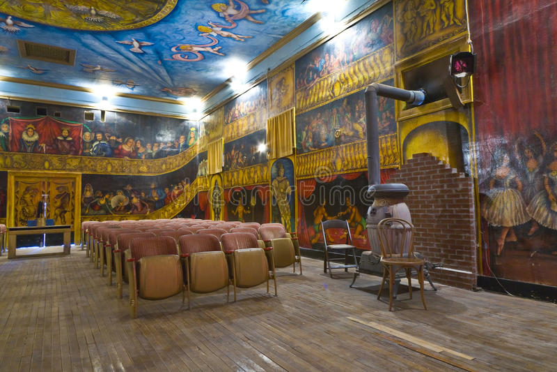 Auditório do teatro da ópera bonito de Amargosa foto de stock royalty free