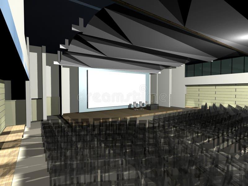 Auditório moderno da arquitetura ilustração do vetor