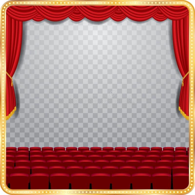 Auditório transparente da fase ilustração royalty free