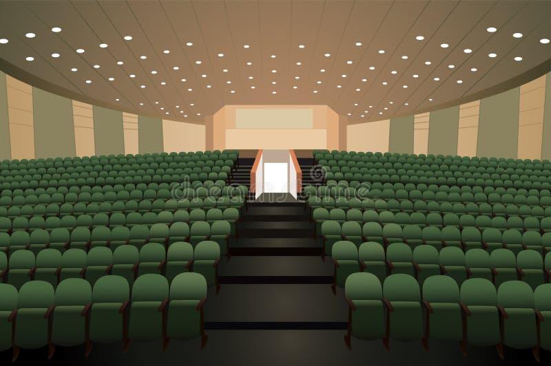 Auditório vazio da conferência ilustração royalty free