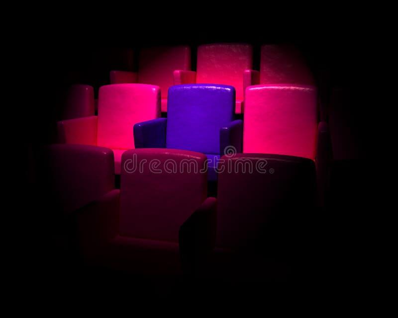 Auditório vazio do cinema ilustração royalty free