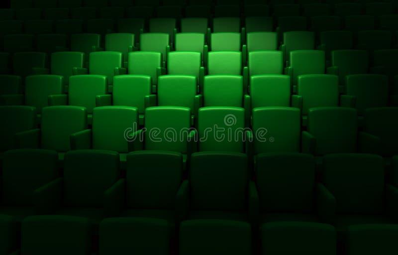 Auditório vazio do cinema ilustração stock
