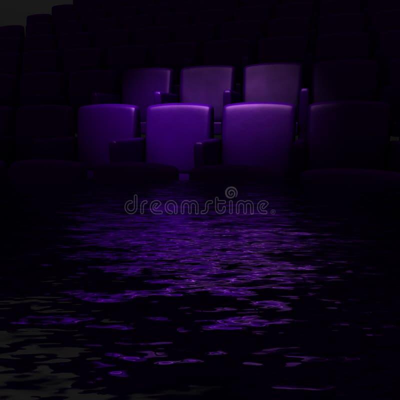 Auditório vazio do cinema ilustração do vetor