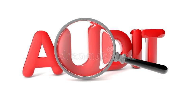 Audit royalty free illustration