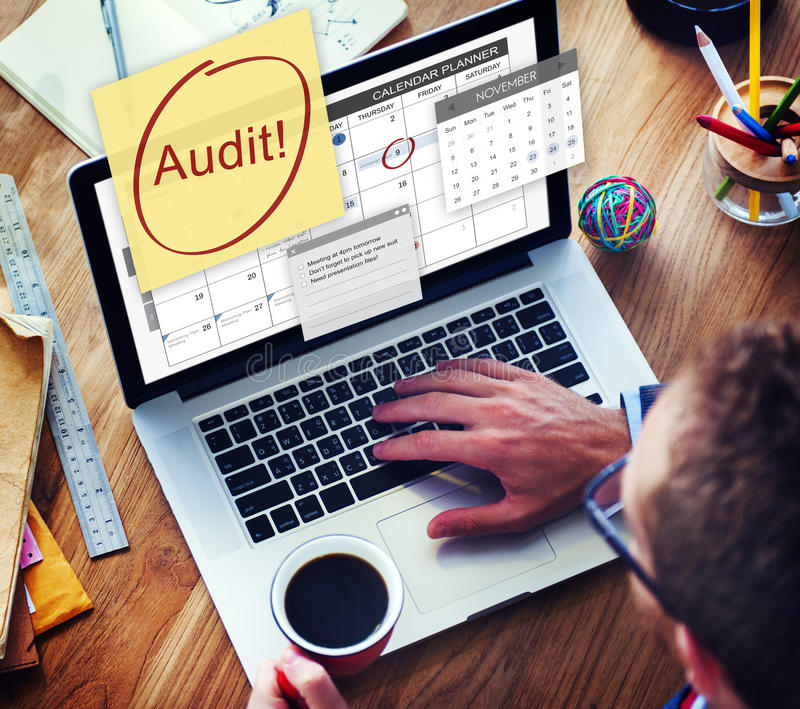 Audit Accounting Bookkeeping Credit Debt Finance Concept royalty free stock photography