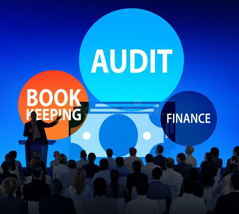 Audit Bookkeeping Finance Money Report Concept royalty free illustration