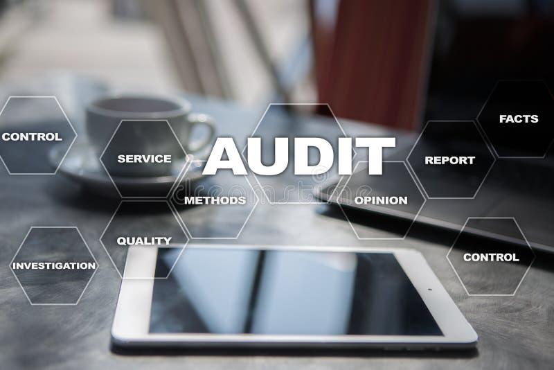 Audit business concept. Auditor. Compliance. Virtual screen technology. Audit business concept Auditor. Compliance. Virtual screen technology stock images