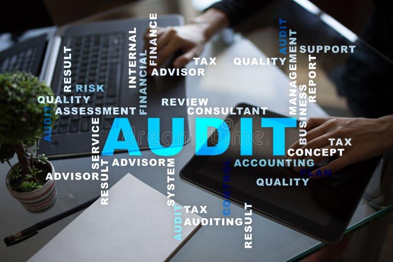 Audit business concept. Auditor. Compliance. Virtual screen technology. Words cloud. Audit business concept Auditor Compliance. Virtual screen technology. Words stock photos