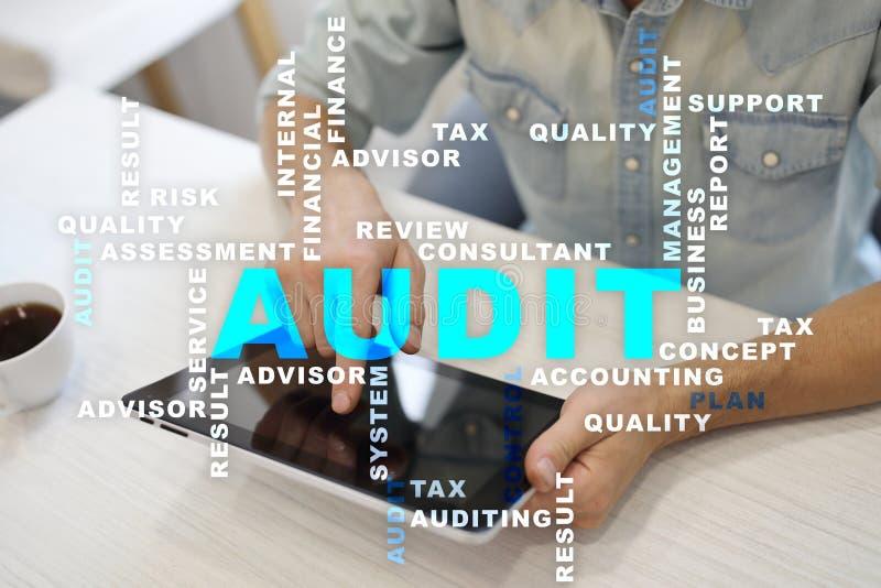 Audit business concept. Auditor. Compliance. Virtual screen technology. Words cloud. Audit business concept Auditor. Compliance. Virtual screen technology stock photos