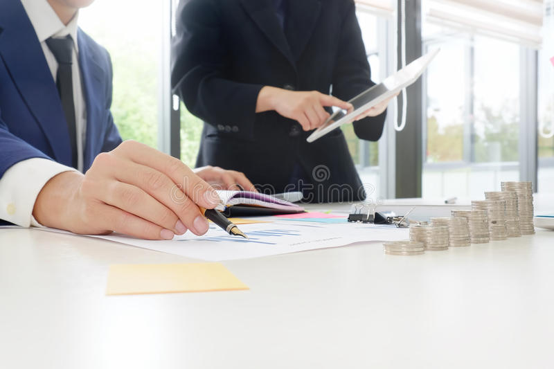 Audit concept,Bookkeeper Team. royalty free stock photography