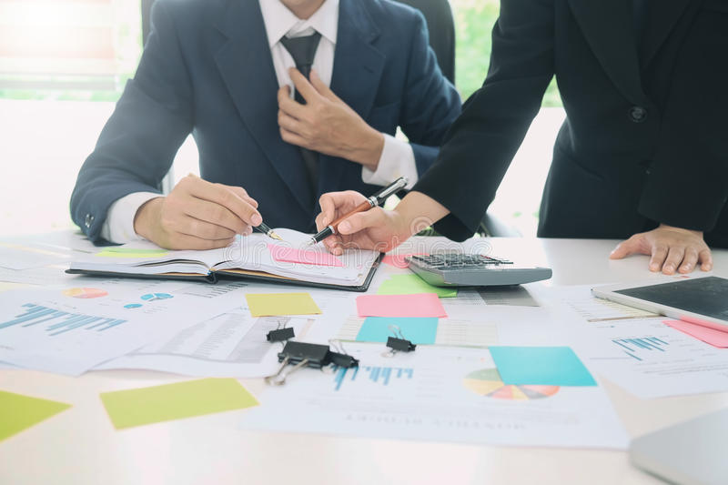 Audit concept,Bookkeeper Team or financial inspector. stock image