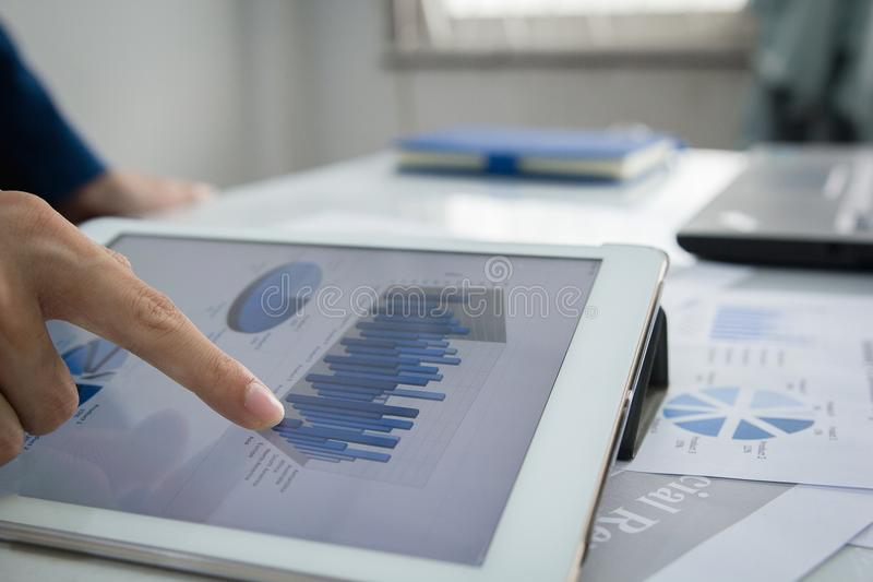Audit concept, Business people Service checking document. stock photos