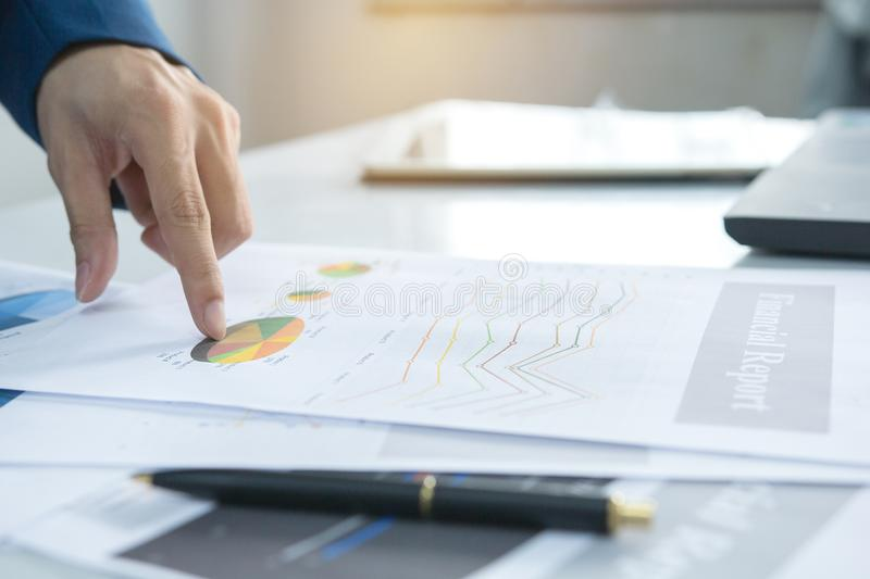 Audit concept, Business people financial marketing report. Audit concept, Business people financial marketing report, calculating balance. Service checking royalty free stock photos