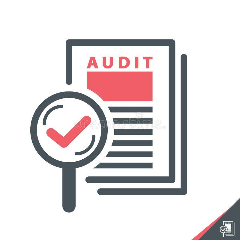 Audit concept. royalty free illustration