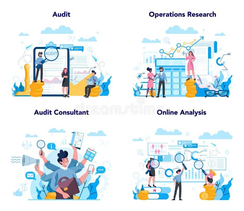 Financial Research Audit Management Concept Vector Stock