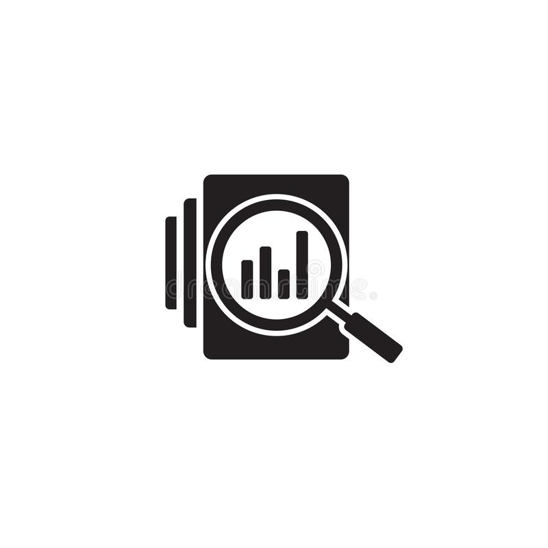 Audit document icon in flat style. Result report vector illustration on white isolated. Verification control business vector illustration