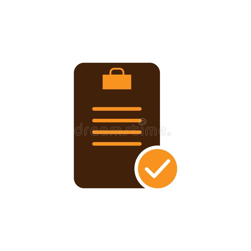 Audit, done icon. Element of Web Optimization icon for mobile concept and web apps. Detailed Audit, done icon can be used for web. And mobile on white royalty free illustration