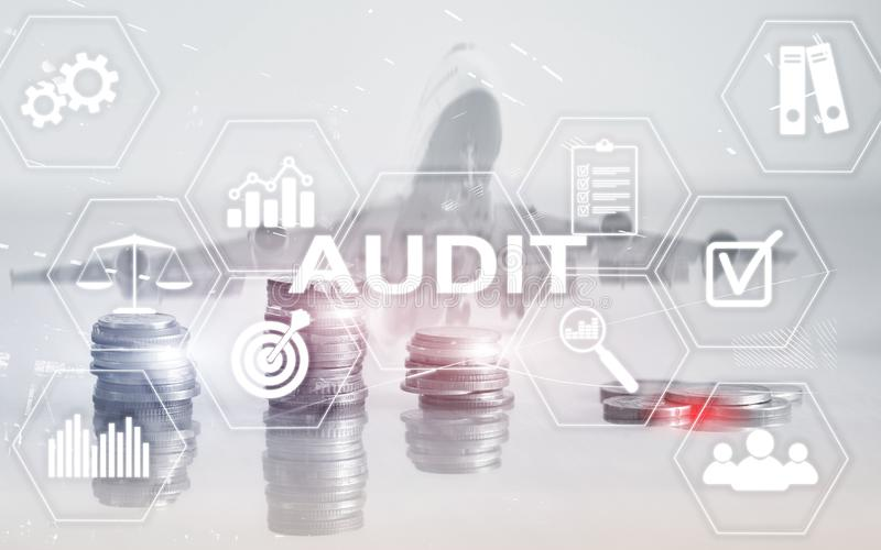 Audit Finance banking concept. Double Exposure Coins Financial and Business background. Audit Finance banking concept. Double Exposure Coins Financial and stock photos
