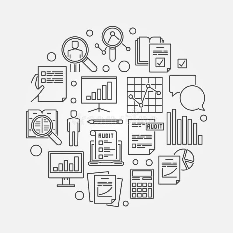 Audit and financial analysis illustration stock illustration