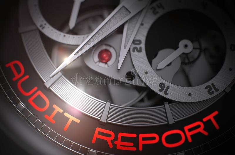 Audit Report on the Fashion Wrist Watch Mechanism. 3D. vector illustration