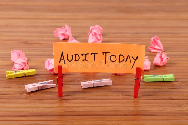 Audit schedule stock photography