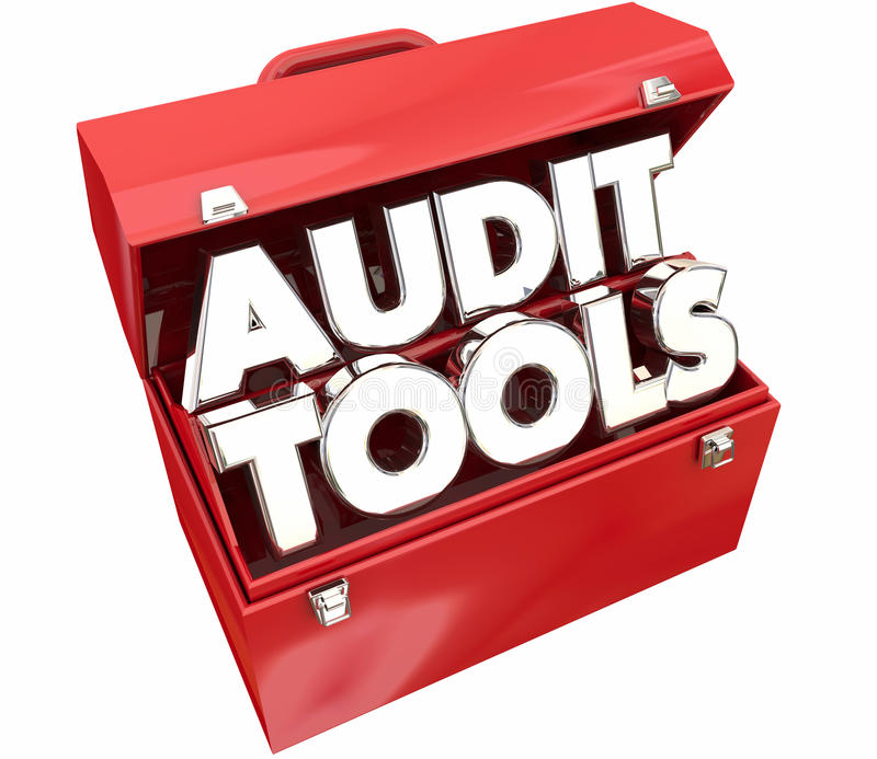 Audit Tools Toolbox Tax Accounting Review royalty free illustration
