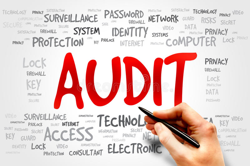 Audit. Word cloud, business concept stock photos
