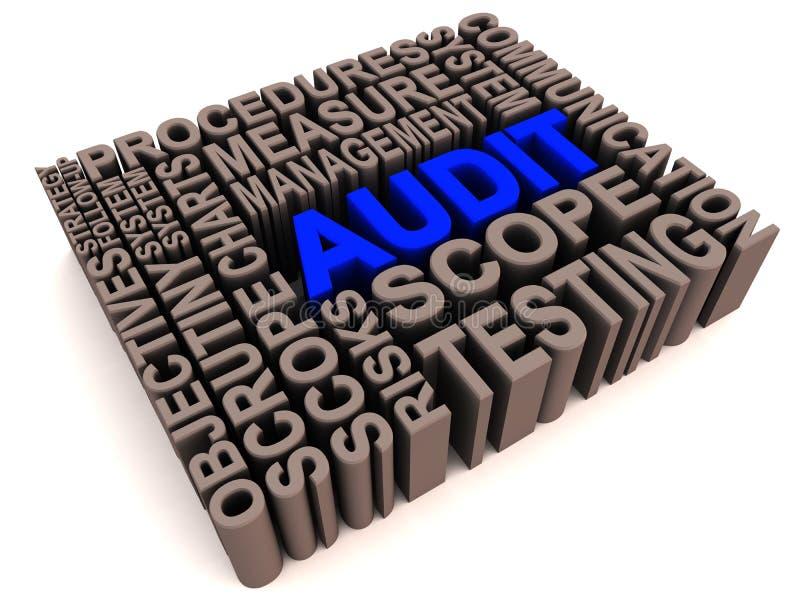 Audit words collage stock illustration