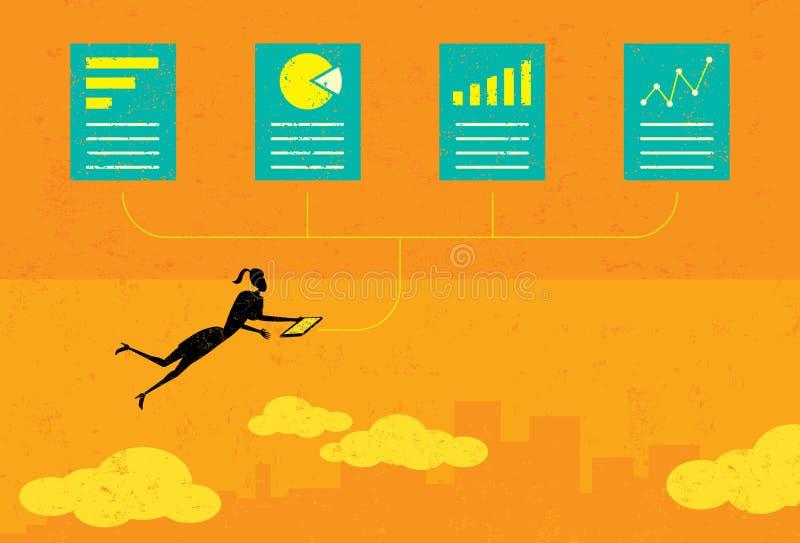 Auditer les documents financiers illustration libre de droits