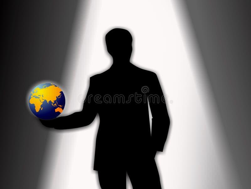 Audition per un nuovo ruolo nel mondo del commercio royalty illustrazione gratis