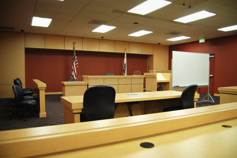 Auditoire de tribunal vide photos stock