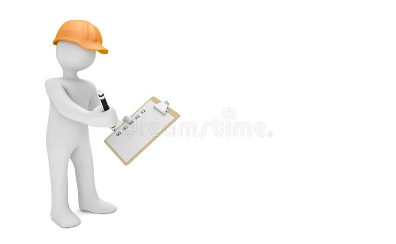 Auditor Checklist ilustração stock