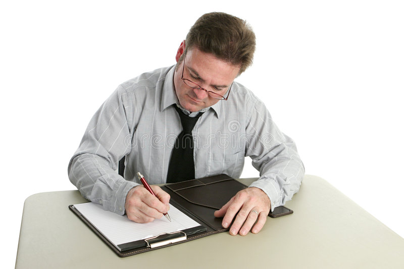 Auditor - Taking Notes Royalty Free Stock Photos