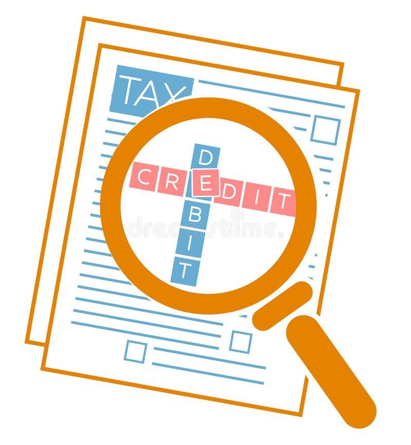 Auditoria de imposto do conceito ilustração do vetor