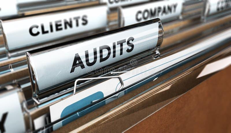 Auditoria interna, gestão da empresa ilustração do vetor