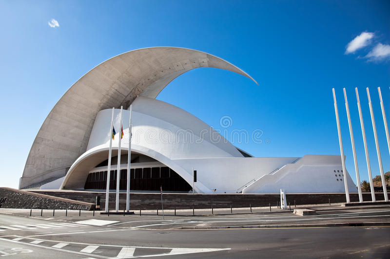 Auditorio à Santa Cruz de Tenerife, Espagne photo stock