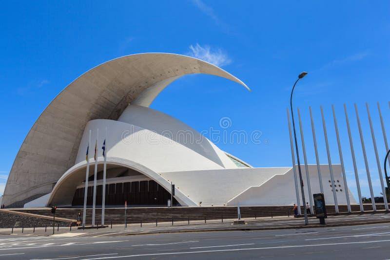 Auditorio de Tenerife - sala da concerto futuristica, progettata da Santiago Calatrava immagini stock